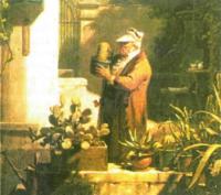 Картина Карла Шпицвега «Любитель кактусов», 1845 г.