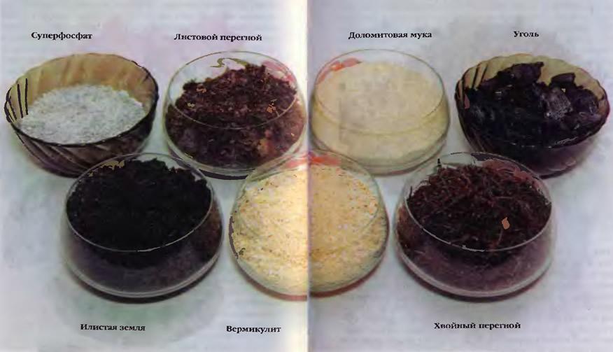 Основные компоненты земельных смесей для сенполий