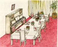 Рис. 10. Праздничный стол с фиалками