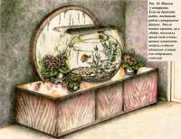 Рис. 11. Фиалки у аквариума