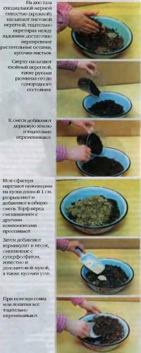 Смешивание компонентов грунта